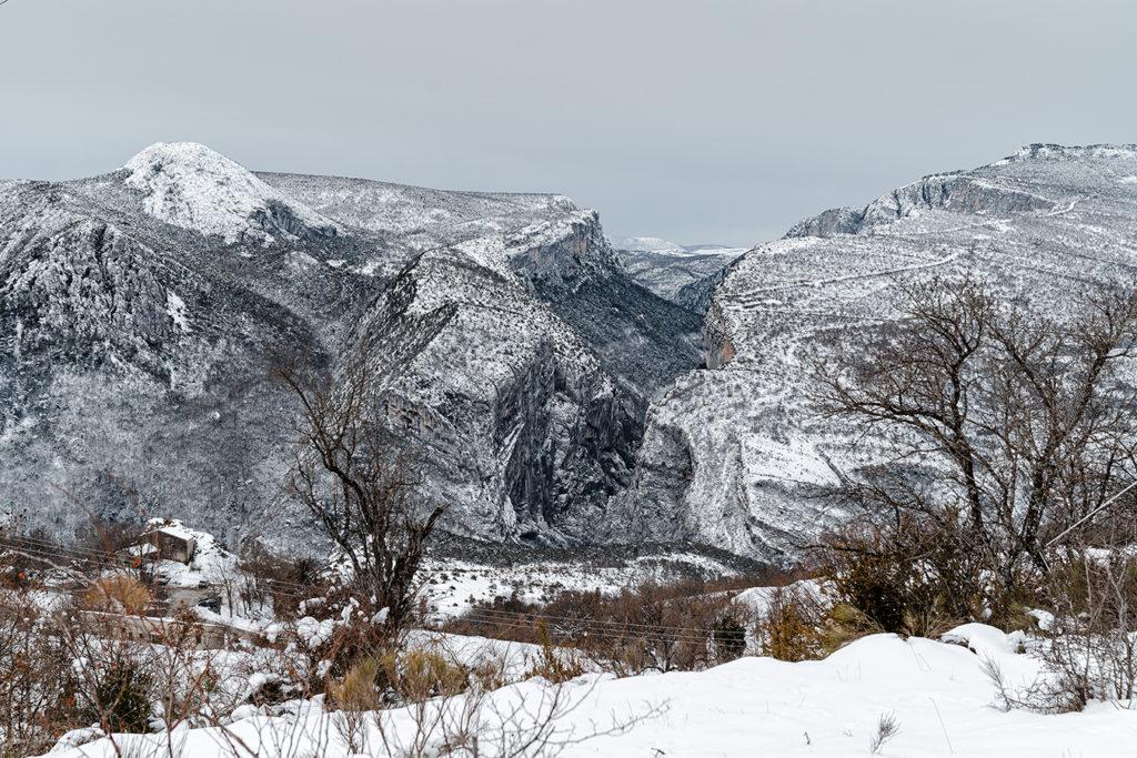 L'entrée des Gorges depuis Rougon